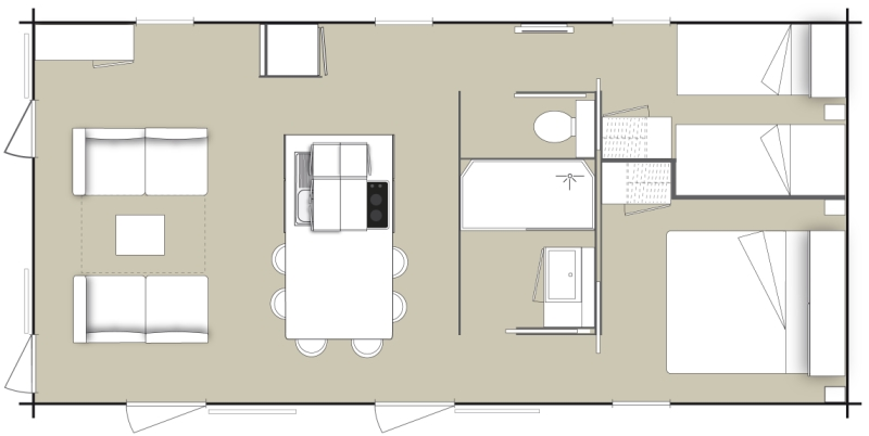 Plan d'un mobil-home Key West