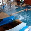 Beautiful heated indoor water park close to La Baule