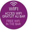 Wifi free at the bar restaurant