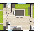 Cottage 6/8 places 3 chambres confort plan