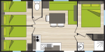 Cottage 6 places 3 chambres plan {PNG}